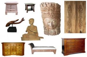Import de mobilier de tec si obiecte de arta: